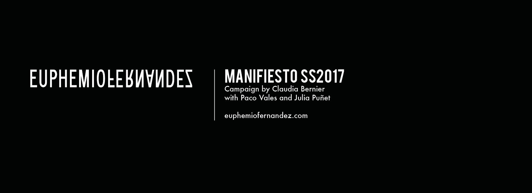 manifiesto euphemio fernandez campaign claudia bernier ss2017